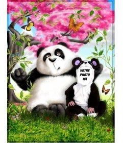 costume de Panda que vous pouvez modifier en ligne et montage gratuit photo