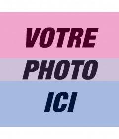 Filtre de drapeau bisexuel ajouter dans vos photos pour