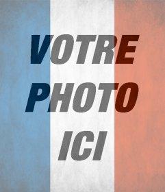 Drapeau de la France à mettre dans votre photo et de soutien #tousommesParis