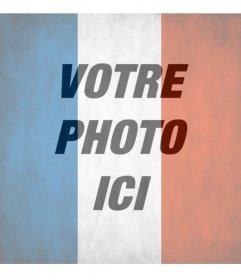 Drapeau de la République française à mettre dans votre photo Envoyez un message facebook ou Twitter