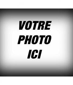 """Filtre photographiques à appliquer à une image numérique, qui se compose d""""un bord à l""""image gradient noir comme un éditeur de photo"""