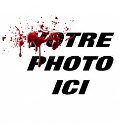 Effet photo en ligne pour mettre en vos photos effet de sang frais