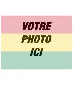 Collage drapeau de la Bolivie à mettre dans votre photo créant un montage