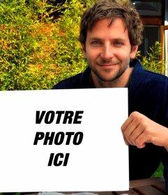Mettez votre image dans ce cadre tenu par Bradley Cooper