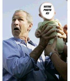 Modifier cette photo montage fun avec George Bush et un