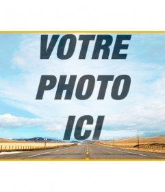 Tête de Facebook pour créer un collage dans le ciel dans cette photo avec une route et superposer une photo que vous téléchargez en ligne