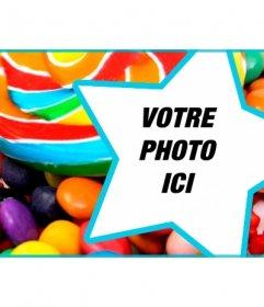 Personnaliser la couverture de votre profil Facebook avec des bonbons et des sucettes et votre photo à lintérieur dune étoile