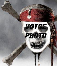 Photomontage dun crâne de pirate de mettre une photo de votre visage