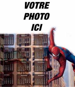 Spider-Man sur votre calendrier 2016 Anglais modifier