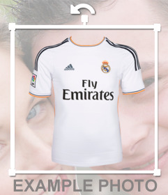 Autocollant de mettre le maillot de Real Madrid dans votre photo