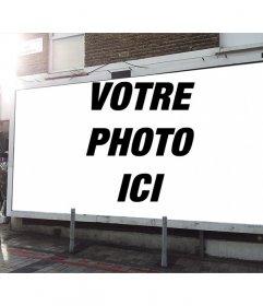 Effet photo à ajouter une photo de vous dans un panneau publicitaire dans la rue