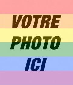 Mettez les couleurs de larc de la fierté gaie dans vos photos