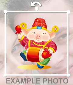 Cochon chanceux nouvel an chinois