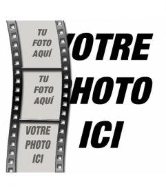 Montage photo de film de cinéma de faire avec 4 photos, une photo en arrière-plan