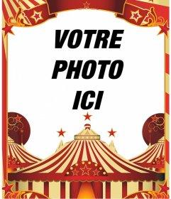 Cadre photo avec le dessin de cirque photoeffets - Cadre photo dessin ...