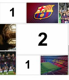 Collage original du FC Barcelone pour modifier avec 4 photos