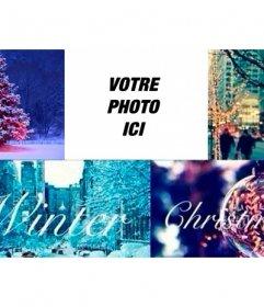 Collage de Noël pour la photo de couverture Facebook