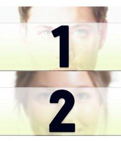 Créez un collage avec deux photos divisé horizontalement