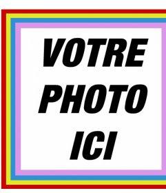 Cadre carré heureux avec les couleurs que vous pouvez mettre vos photos dans