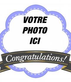 Cadre décoratif avec un ruban à féliciter et à télécharger un cadre de Violet photo