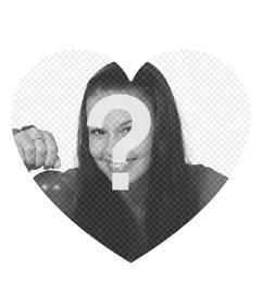 En forme de coeur de cadre où vous pouvez ajouter votre photo gratuitement