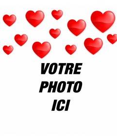 coeurs à vos photos flottant avec cet effet romantique