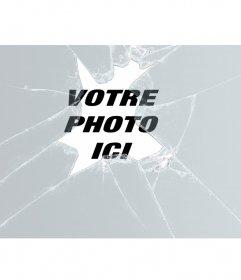 Effet de verre brisé pour votre photo