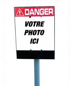 """Panneau d""""avertissement de danger de mettre une image à l""""intérieur, c""""est à dire variés. Regardez la page et suivez les étapes simples que vous dire de l""""envoyer comme une plaisanterie"""