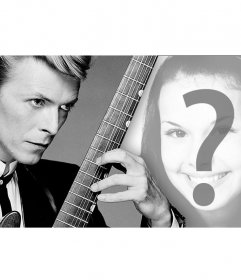 Montage pour votre couverture photo avec le chanteur David Bowie et
