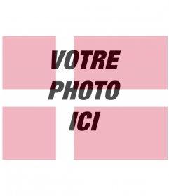 Photomontage dans lequel vous pouvez mettre votre photo avec le drapeau du Danemark