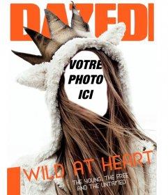 Photomontage sur la couverture dun magazine pour les jeunes