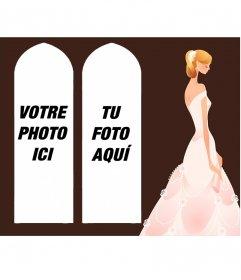 Collage pour deux photos avec un
