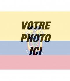 """Photomontage de mettre le drapeau de l""""Equateur avec votre photo"""