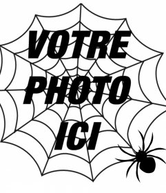 Mettez une toile daraignée et une araignée dans votre photo, effet de terreur
