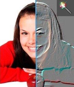 """Effet de relief à votre photo. Modifier votre photo avec ce gaufrage effet photo. L""""image de filtrage en ligne"""