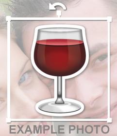 Coupe de vin rouge pour ajouter vos images comme un sticker décoratif