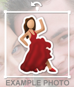 Émoticône dun flamenco dansant de whatsapp