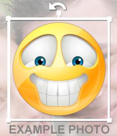 Smiley émoticône avec des dents blanches pour vos photos