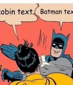 Créateur de photomontages de la scène où Batman lui donne une claque à Robin
