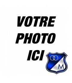 """Effet photo pour mettre votre photo avec Millionaires de football les écusson de l""""équipe"""