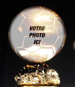 Photomontage avec ballon dor de mettre votre photo