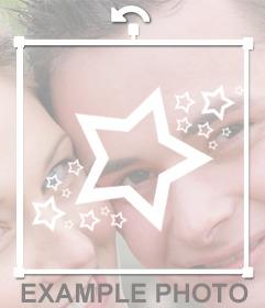étoiles blanches décoratifs à coller sur vos images en ligne