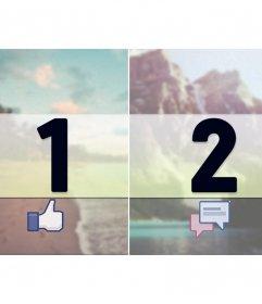 """Marges pour facebook photo bande avec """"comme"""" et """"actions"""""""