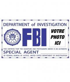 Photomontage de la carte du FBI. Surprenez vos amis en mettant votre photo!