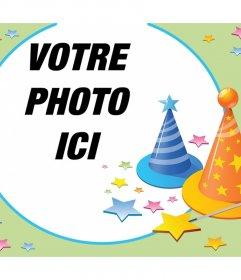 Photomontage avec les parties chapeaux et beaucoup détoiles pour célébrer