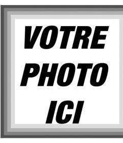 Cadre photo avec différentes nuances de filtre gris et noir et blanc pour vos photos