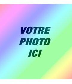 Filtre photo avec arc en ciel coloré diagonale pour donner effet dégradé de couleur à vos images