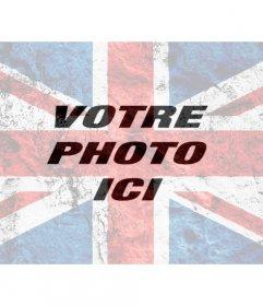 Filtre photo avec un drapeau de lUnion burnout superposer sur vos photos et de les modifier