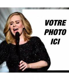 Éditable effet photo avec Adele chante pour télécharger votre photo