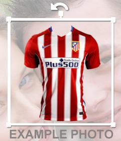 Collez la chemise de lAtletico Madrid sur vos photos comme un effet